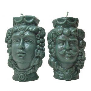candele verde frontali