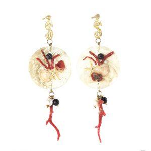 LS 24 orecchini coralli perle madreperla la sicilienne gioielli d'arte made in italy collections summer 2016 orecchini (4)
