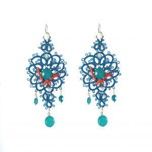 LS 30 la sicilienne gioielli d'arte ,ade in italy collections orecchini turchese corallo azzurro blu ss 2016 estate novità (2)