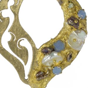 N 31 orecchini nora made in italy collections Heavenly brass pealr (1)