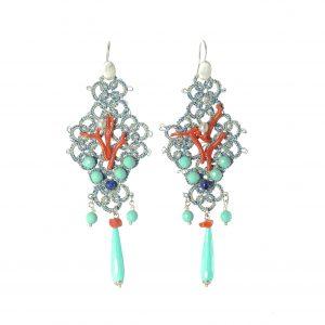 LS 33 orecchini la sicilienne gioielli d'arte made in italy collections tatting chiacchierino (3)